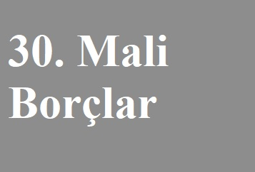 MALİ BORÇLAR