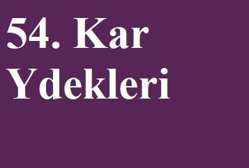 KÂR YEDEKLERİ