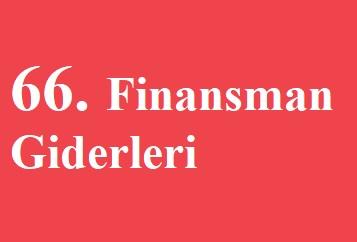 FİNANSMAN GİDERLERİ(-)